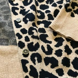 a new day Sweaters - Leopard print cardigan